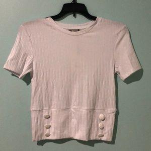 Zara T-Shirt with Button Detail